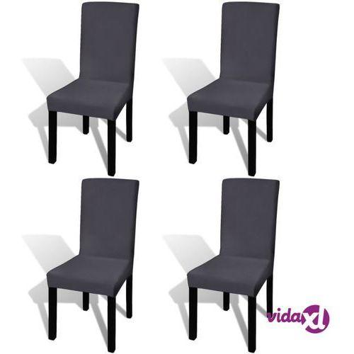 elastyczne pokrowce na krzesło antracytowe 4 szt. marki Vidaxl