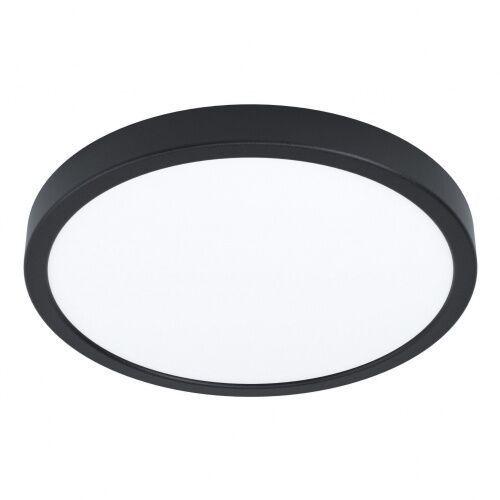 99267 FUEVA 5 IP44 oprawa natynkowa stal czarny / plastik biały H: 28 mm | Ø 285 mm PLAFON LED EGLO 3000K, 99267
