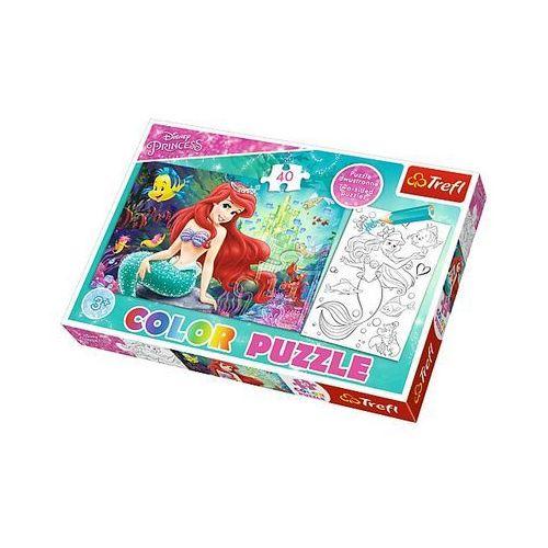Puzzle color 40 elementów. podwodne królestwo marki Trefl