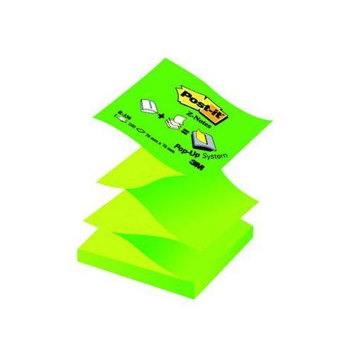 Bloczek samop. post-it® z-notes (r330nag), 76x76mm, 100 kart., pastelowy/neonowy zielony marki 3m