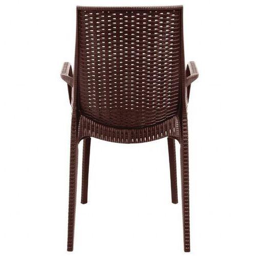 Krzesło z podłokietnikami | brązowe | 440mm | 4 szt., kolor brązowy