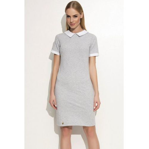 Sukienka model m353 grey melange marki Makadamia