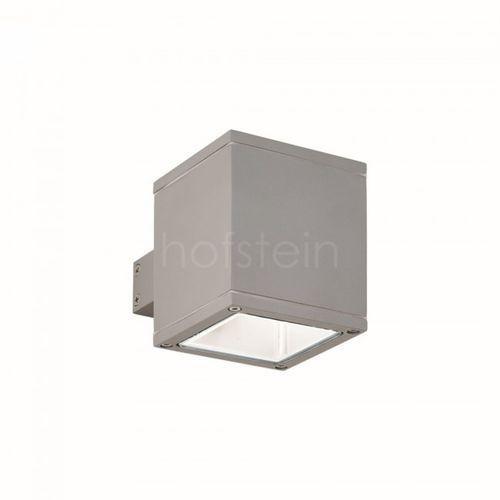 Ideal lux kinkiet zewnętrzny snif square ap1 grigio 118666, szary (8021696118666)