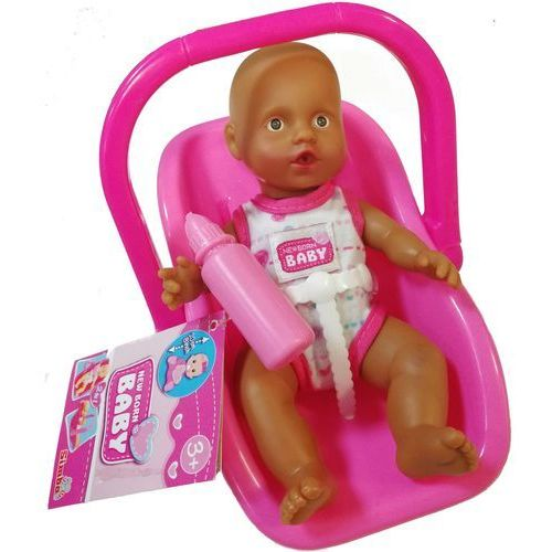 Simba New Born Baby Lalka Bobas Afroamerykanin w nosidełku jasno-różowym 20 cm