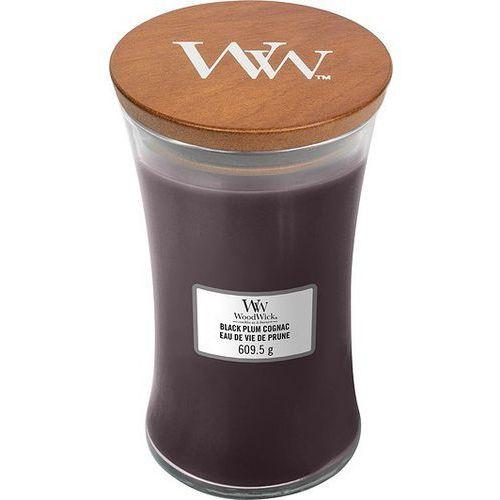 Świeca Core WoodWick Black Plum Cognac duża, 93023E