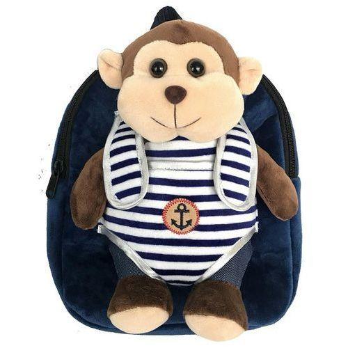 Plecak z odpinaną maskotką – małpka