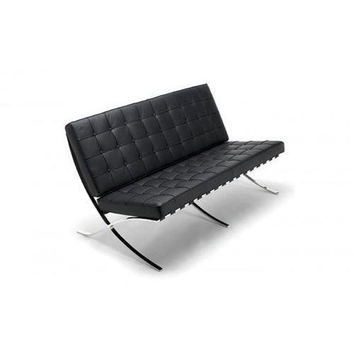 Sofa ba3 inspirowana barcelona - czarny marki D2.design