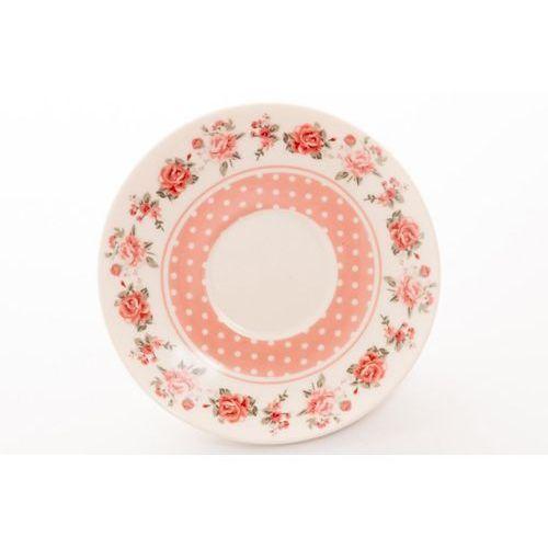 2 filiżanki z porcelany na prezent groszki kropki marki Livello