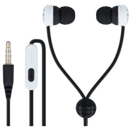 Słuchawki dokanałowe FOREVER CM-320 z mikrofonem Czarno-biały
