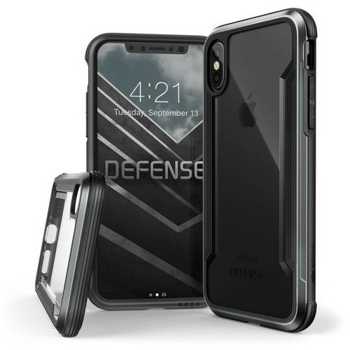 X-Doria Defense Shield - Etui aluminiowe iPhone X (Black), kolor czarny
