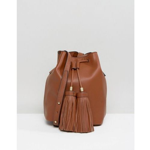 drawstring duffle bag with tassel detail - brown od producenta Ted baker