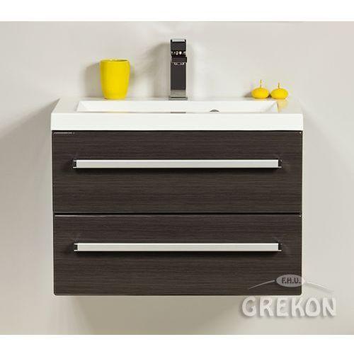 Gante Grafitowa szafka wisząca z umywalką 60/39/2 seria fokus fino