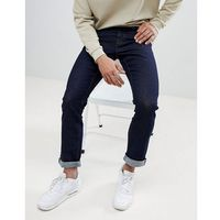 New Look Slim Fit Jeans In Dark Blue Wash - Black, slim