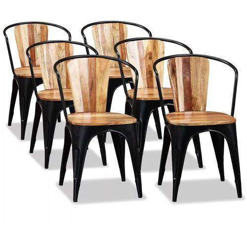 Vidaxl krzesła do jadalni, 4 szt., lite drewno akacjowe, styl tolix (8718475587156)