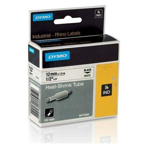Dymo Oryginalna rurka termokurczliwa rhino 18055 12mm x 1.5m ø3.0mm-5.1mm biała/czarny nadruk s0718300