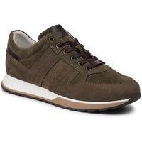 Sneakersy - 9020-77 zielony/brąz marki Wojas