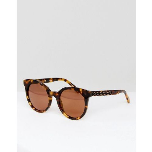 Stella McCartney SC0018S Cat Eye Sunglasses In Tort 50mm - Brown, kolor brązowy