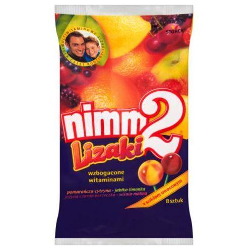 Storck Lizaki nimm2 wzbogacone witaminami oraz sokiem w 4 owocowych smakach 80 g (8 sztuk) (4014400912661)