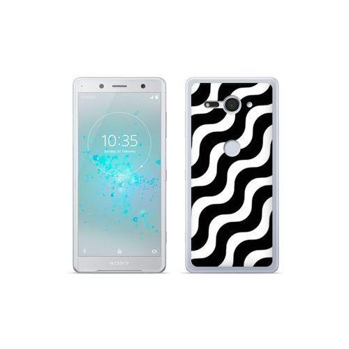 etuo Fantastic Case - Sony Xperia XZ2 Compact - etui na telefon Fantastic Case - biało-czarna fala, ETSN689FNTCFC026000