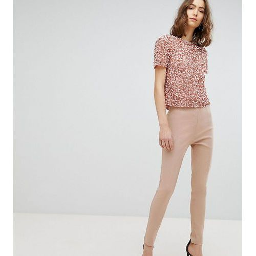 Asos design tall high waist trousers in skinny fit - pink, Asos tall