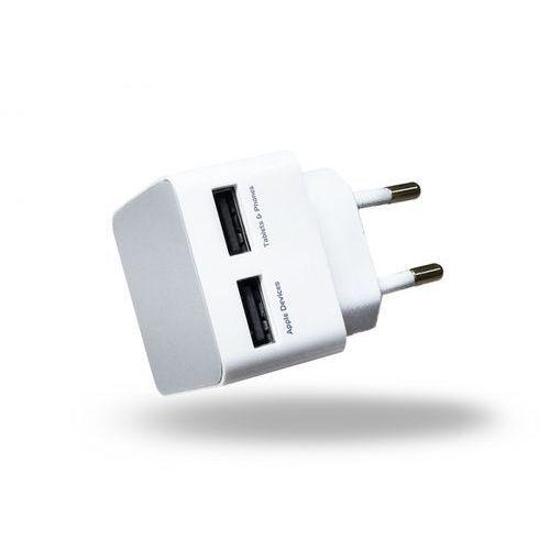 home charger 2x usb 2a biały marki Azuri