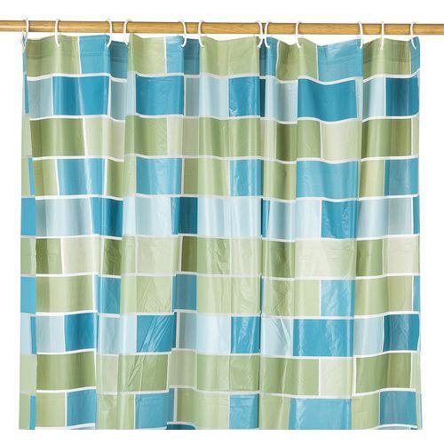 4home Koopman zasłona prysznicowa mur odcienie zielenim, 180 x 180 cm