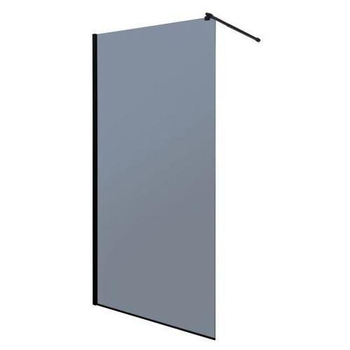 Ścianka prysznicowa czarny profil 100 cm Line Gr Kerra (5907548113139)