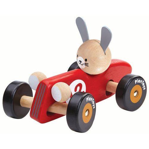 Drewniana rajdówka z królikiem, , plto-5704 marki Plan toys