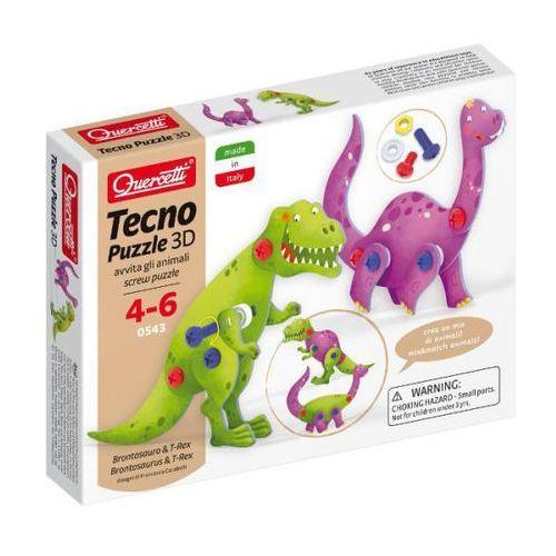 Quercetti Puzzle 3d tecno brontosaurus & t-rex quarcetti (040-0543)