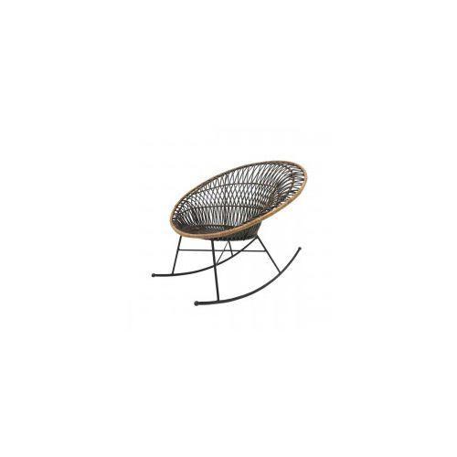 Okrągły rattanowy fotel bujany - HK Living, MZM4627