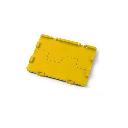 Składana pokrywa z zawiasami, opak. 4 szt., dł. x szer. 600x400 mm, żółty. łatwy marki Häner