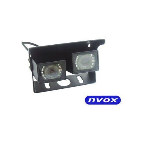 Samochodowa podwójna kamera cofania cmos ii w metalowej obudowie 12v 24v marki Nvox