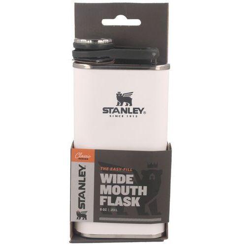 Piersiówka stalowa Stanley Classic biała 0,23 Litra (10-00837-128) (6939236348416)