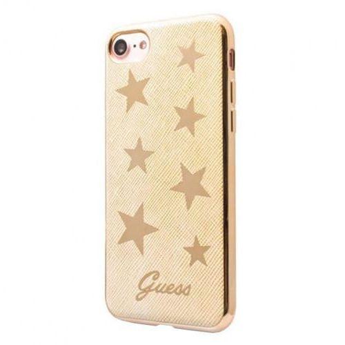Guess Stars Soft Case - Etui iPhone 7 (beżowy) (Futerał telefoniczny)