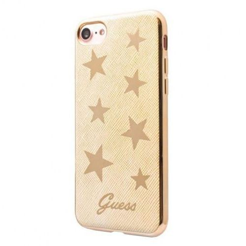 Guess Stars Soft Case - Etui iPhone 7 (beżowy), GUHCP7STABE