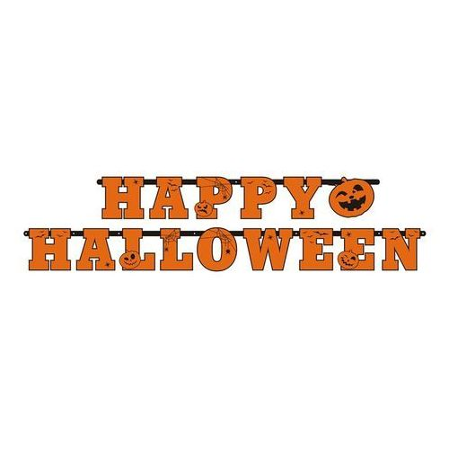 Party deco Baner happy halloween 13cm x 210cm (5901157440662)