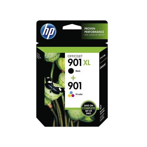 Hewlett-packard Hp oryginalny ink sd519ae, no.901, black/color, 360/200s, hp 2-pack,black+color (0885631768822)