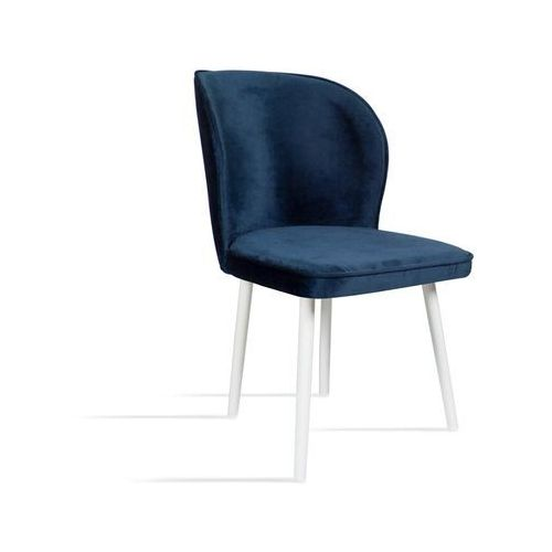 Krzesło RINO granatowy/ noga biała/ SO263