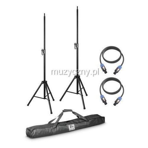 dave 8 set2 zestaw 2 statywów z torbą i 2 kabli głośnikowych do systemu dave 8 marki Ld systems