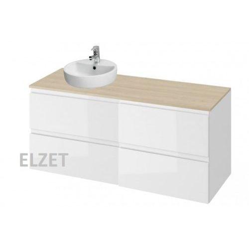 Cersanit szafka moduo biały połysk pod umywalkę nablatową + komoda + blat 120 s929-010+k116-021+s590-025