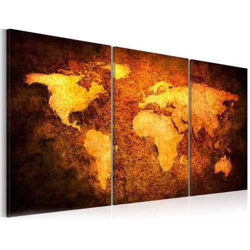 Obraz - rdzawe kontynenty marki Artgeist