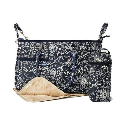 Melobaby torba do przewijania love, deep blue
