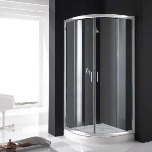 REA COSMO 90 Kabina prysznicowa + brodzik + syfon, szkło transparentne, REA_COSMO_90