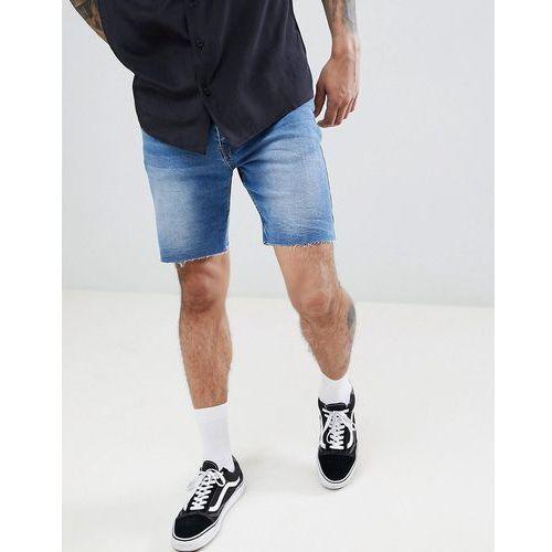 slim fit denim shorts in mid blue - blue marki Pull&bear