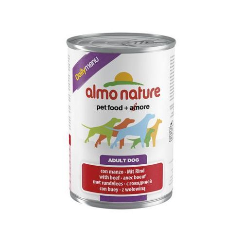 Almo nature  daily menu dog wołowina - puszka 400g