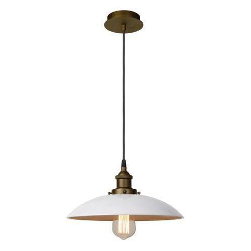 bistro lampa wisząca biały, 1-punktowy - rustykalny - obszar wewnętrzny - bistro - czas dostawy: od 10-14 dni roboczych marki Lucide