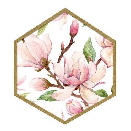 Obraz heksagonalny Magnolia 35 x 40 cm (5901554530812)