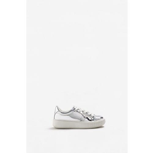 Mango Kids - Buty dziecięce Silver, kolor srebrny