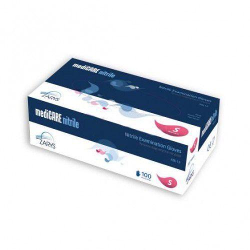Medicare rękawiczki nitrylowe bezpudrowe rozm s 100szt marki Splendore