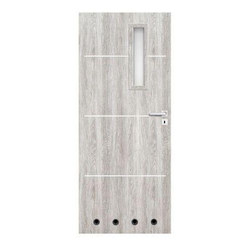 Drzwi z tulejami Nodo 80 lewe jesion szary
